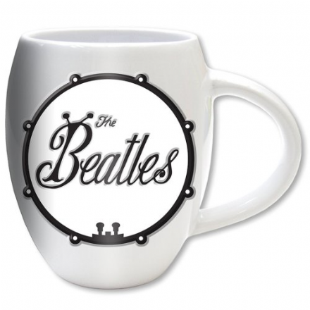 The Beatles Black on White Bug Logo Oval Mug